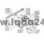 Brzdový valček kolesa