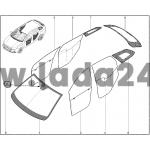 Čelné sklo tónované s prípravou na dažďový senzor